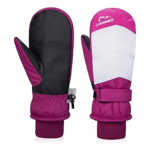 🆕 Anqier Waterproof Ski Gloves 3M Thinsulate